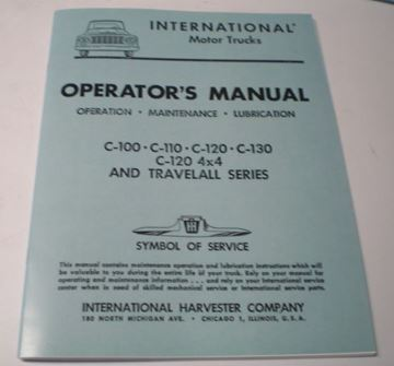 Picture of IH Owners/Operators Manual, 1961-62 Pickup Travelall