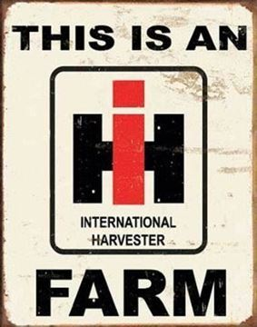 Picture of Tin Sign: THIS IS AN IH FARM