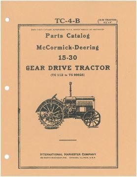 Picture of Parts Catalog for McCormick-Deering 15-30 Gear Drive Tractor