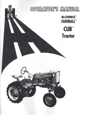 Picture for category IH Cub Tractor Operator Manuals
